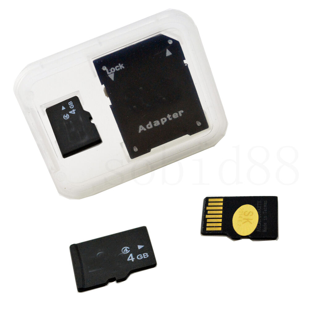 new 4gb 4g tf microsd to standard sd memory card for. Black Bedroom Furniture Sets. Home Design Ideas