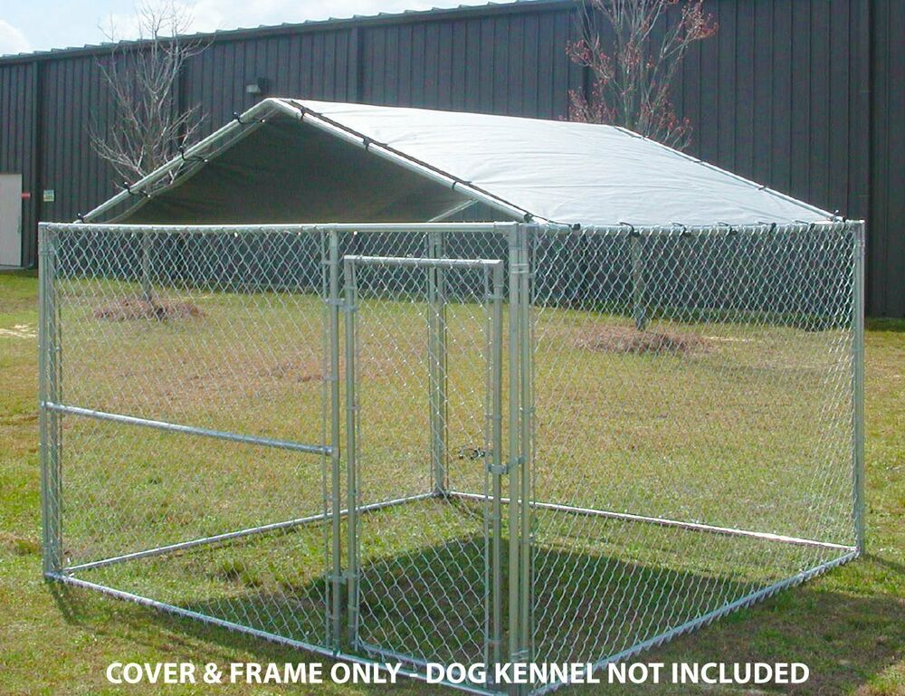 Dog House Canopy Cage Cover Shade Shelter Outdoor Pen Pet