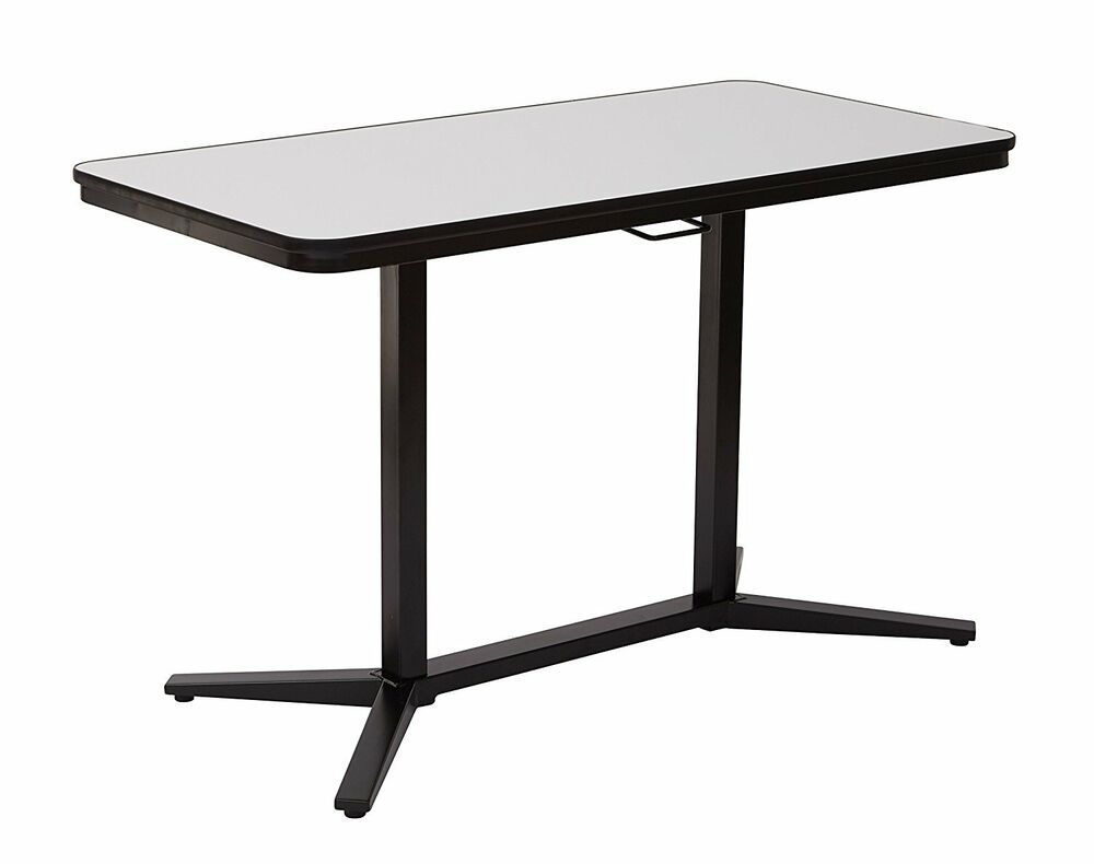 Office Star Pneumatic Height Adjustable Table With White