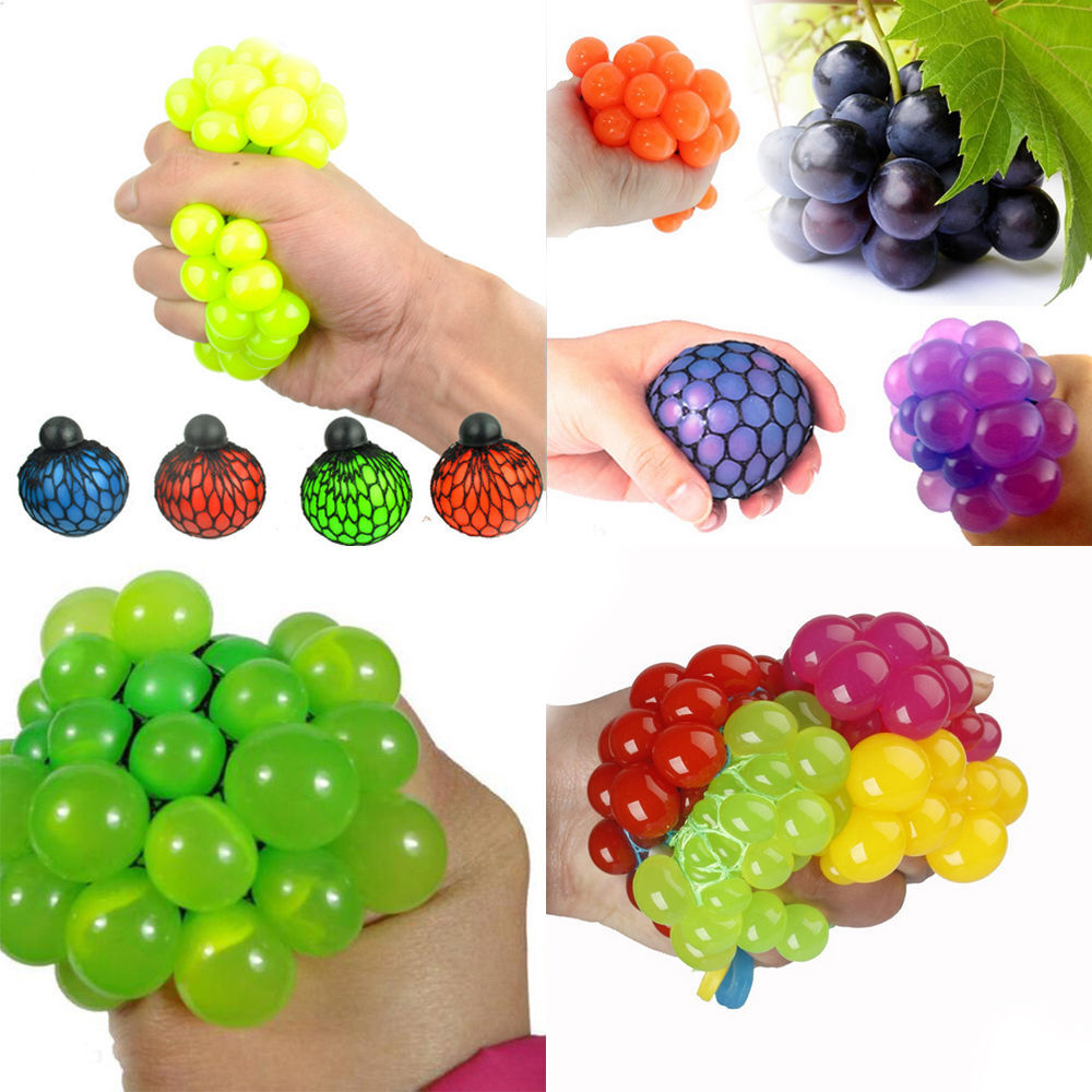 Squishy Mesh Ball Grape Squeeze Toy Gag Gift Novelty in Sensory Fruity Kid Toy eBay