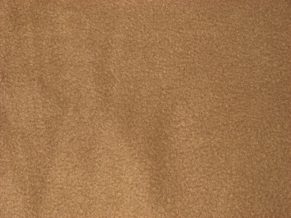 tobacco brown solid color anti pill fleece fabric by the yard bty ebay. Black Bedroom Furniture Sets. Home Design Ideas
