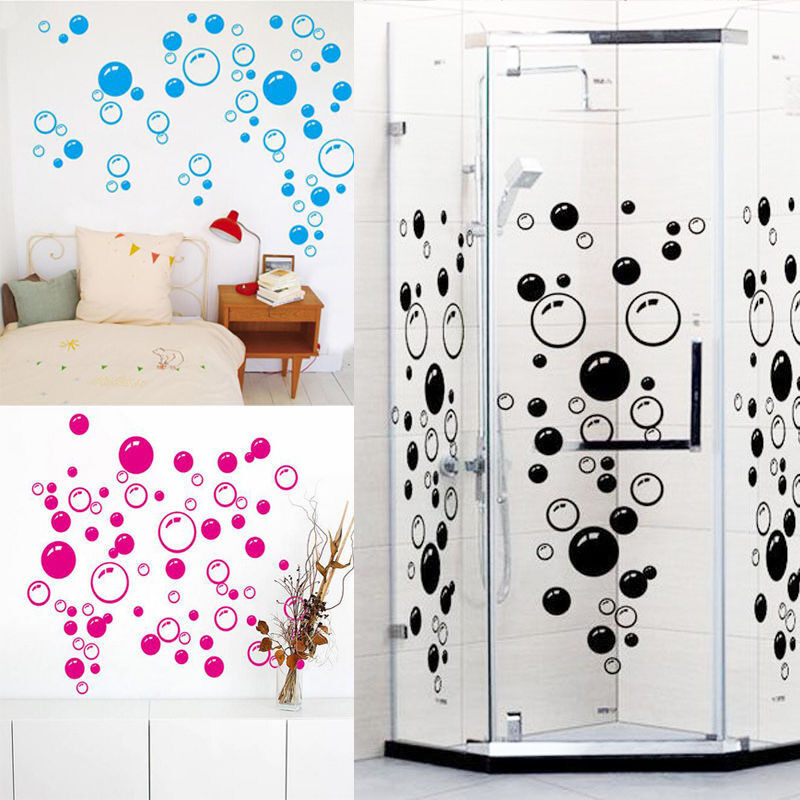 Wall Art Bathroom Shower Tile Removable Decor Decal Mural Kid Sticker 86 Bubbles