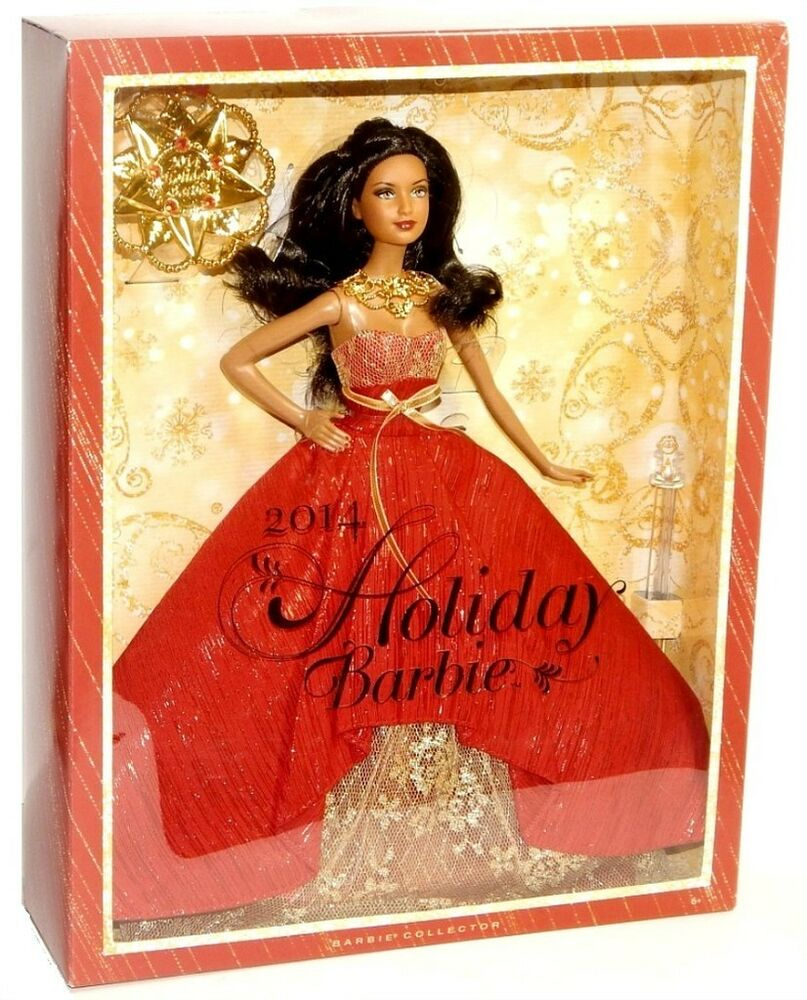 2014 Barbie Collector Holiday Doll African-American with ...