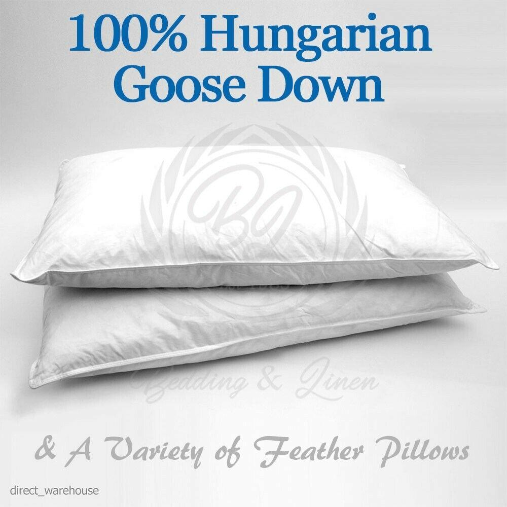 100 hungarian goose down other feather pillows ebay for Duck or goose feather pillows which is better