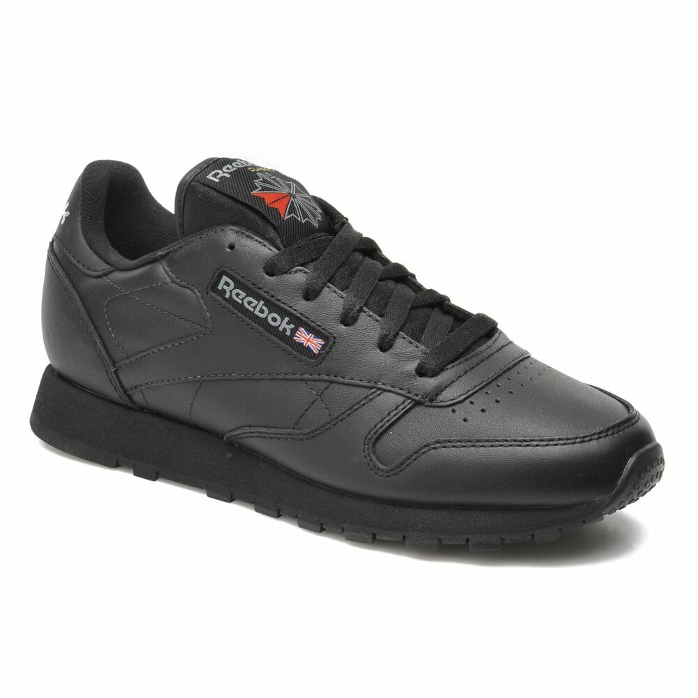 8372ad51d Details about NEW Reebok Classic Junior Kids Unisex Childrens Leather  Trainers Shoes - Black