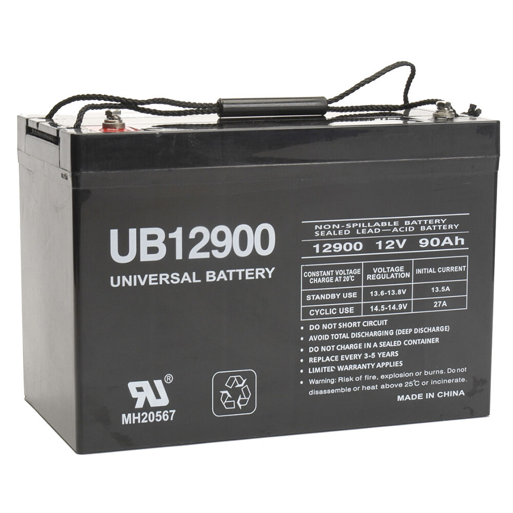 upg 12v 90ah battery for power boat pontoon electric. Black Bedroom Furniture Sets. Home Design Ideas