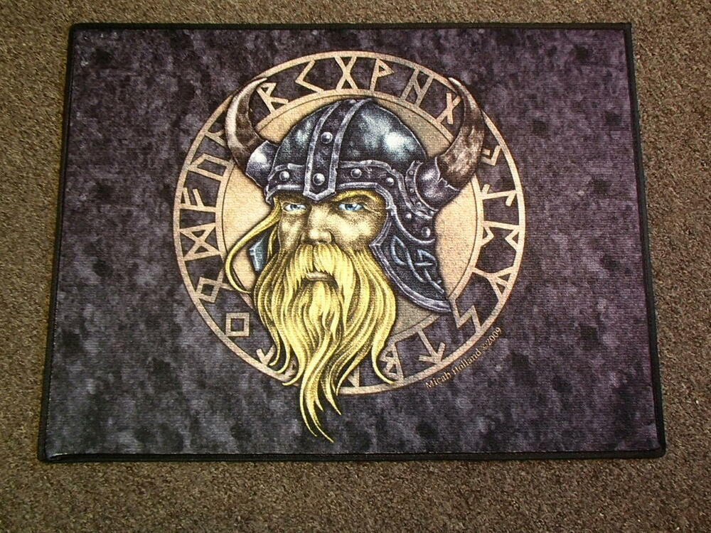 Swedish Norwegian Danish Norse Viking With Runes Door Mat