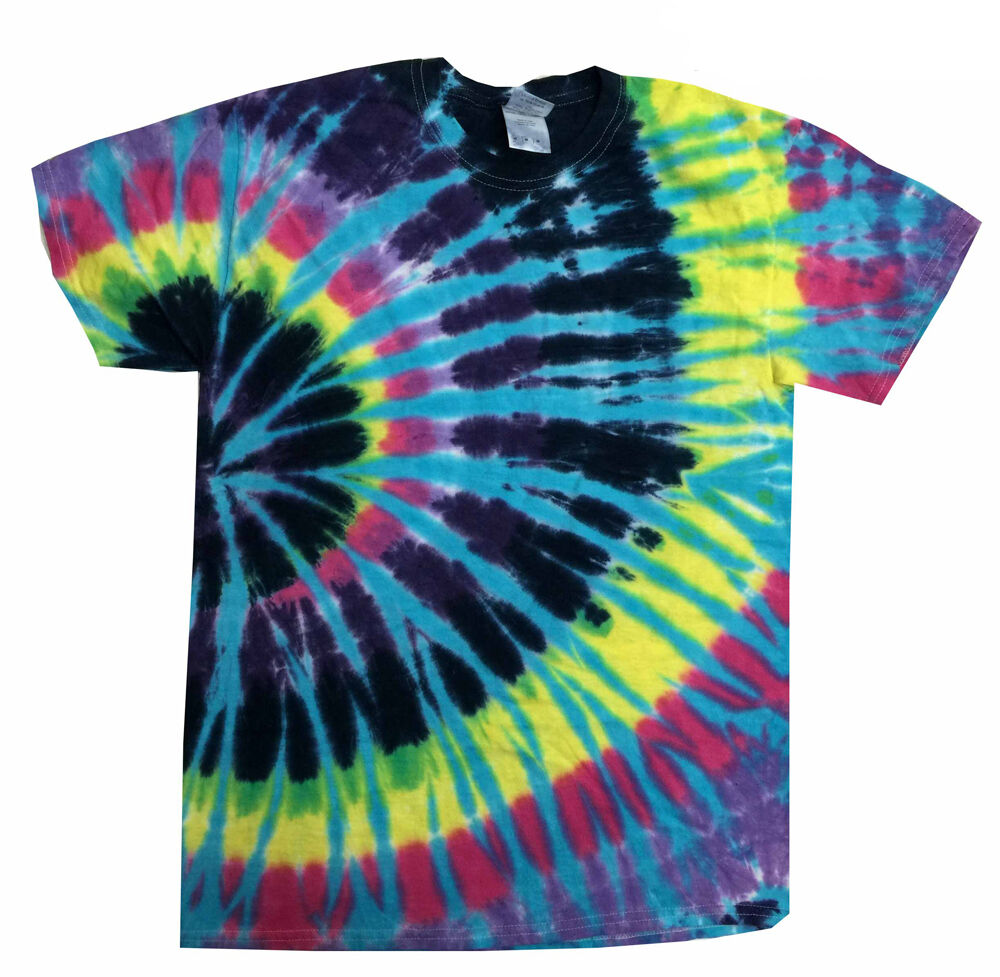 Tie dye t shirts multi color flashback s m l xl 2xl 3xl for Customized tie dye shirts