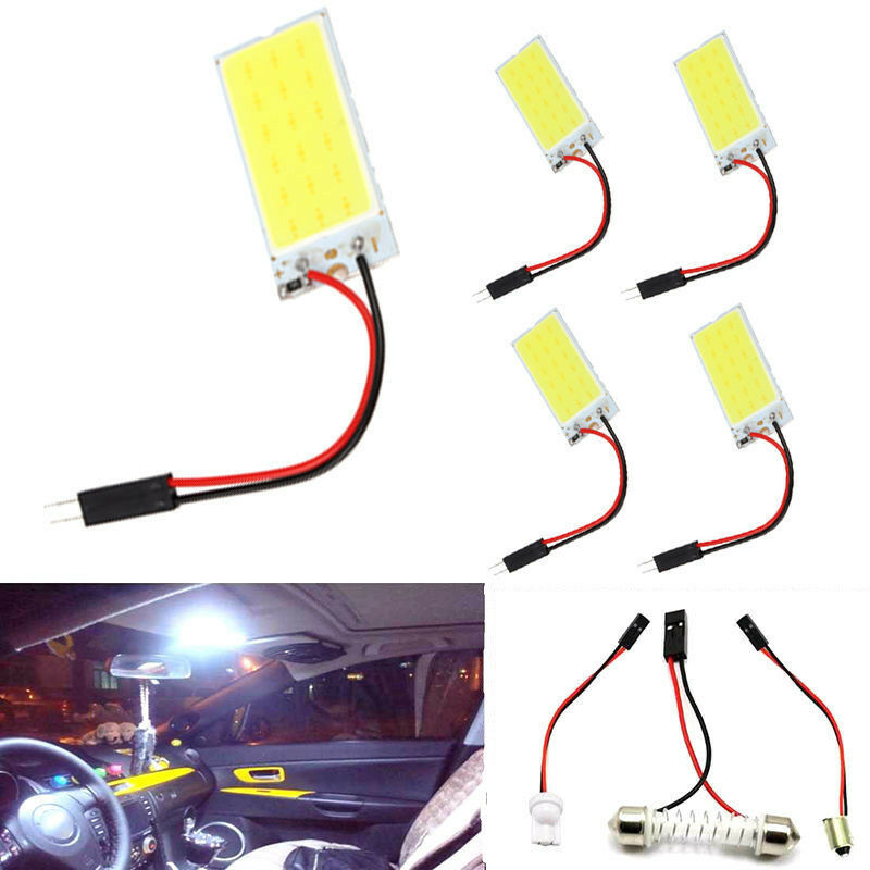 5pcs xenon hid white 18 cob led dome map light car interior panel lamp bulb 12v ebay. Black Bedroom Furniture Sets. Home Design Ideas