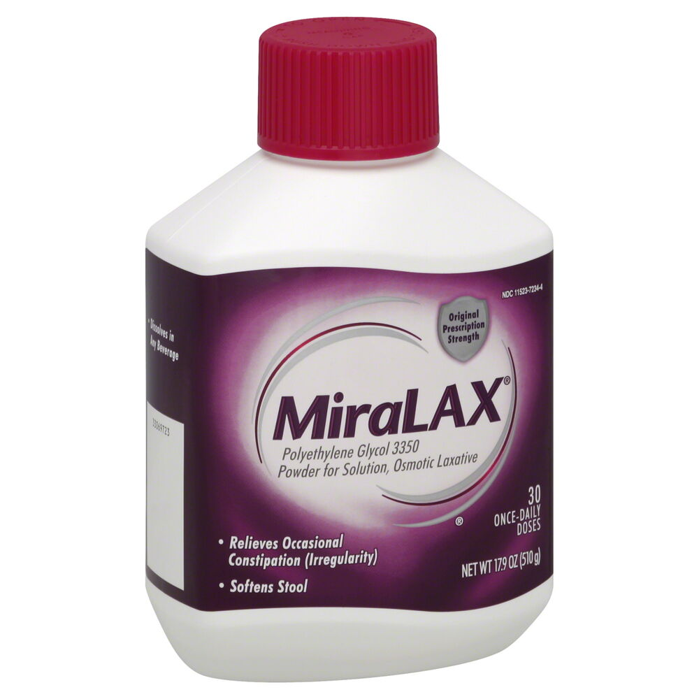 Miralax Laxative Powder 30 Once Daily Dose 17 9 Oz 510 G