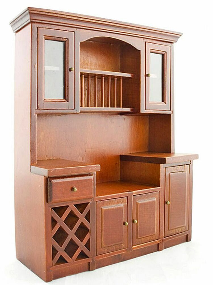 dollhouse kitchen furniture mahogany wood wine drawer cupboard cabinet 1 12 doll s
