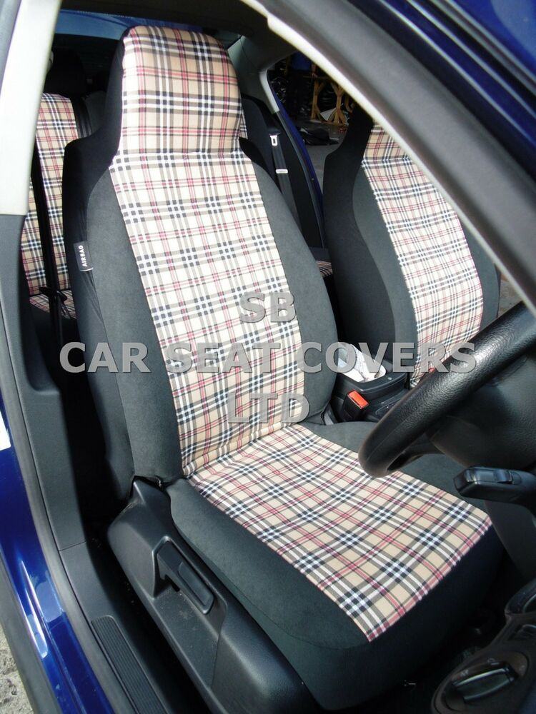 volkswagen beetle polo car seat covers blueberry 2 fronts only ebay. Black Bedroom Furniture Sets. Home Design Ideas