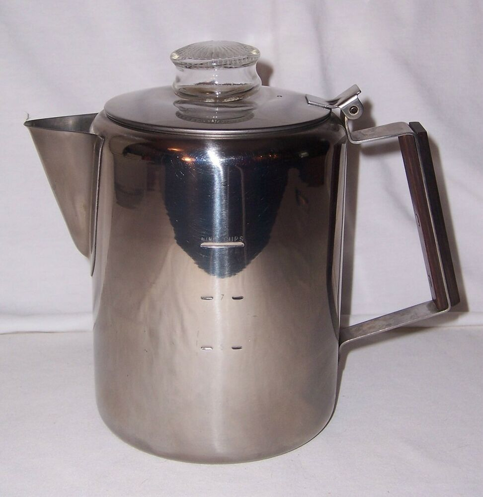 Vintage Stovetop Campfire Coffee Maker Percolator 9 Cups 18-8 Stainless Steel eBay