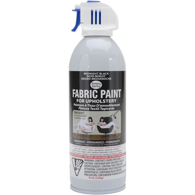 simply spray upholstery fabric paint more spray it new autos post. Black Bedroom Furniture Sets. Home Design Ideas