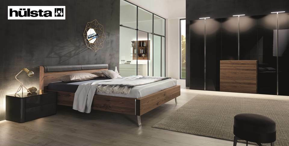 h lsta schlafzimmer gentis lack hochglanz grau kern nussbaum neu ebay. Black Bedroom Furniture Sets. Home Design Ideas
