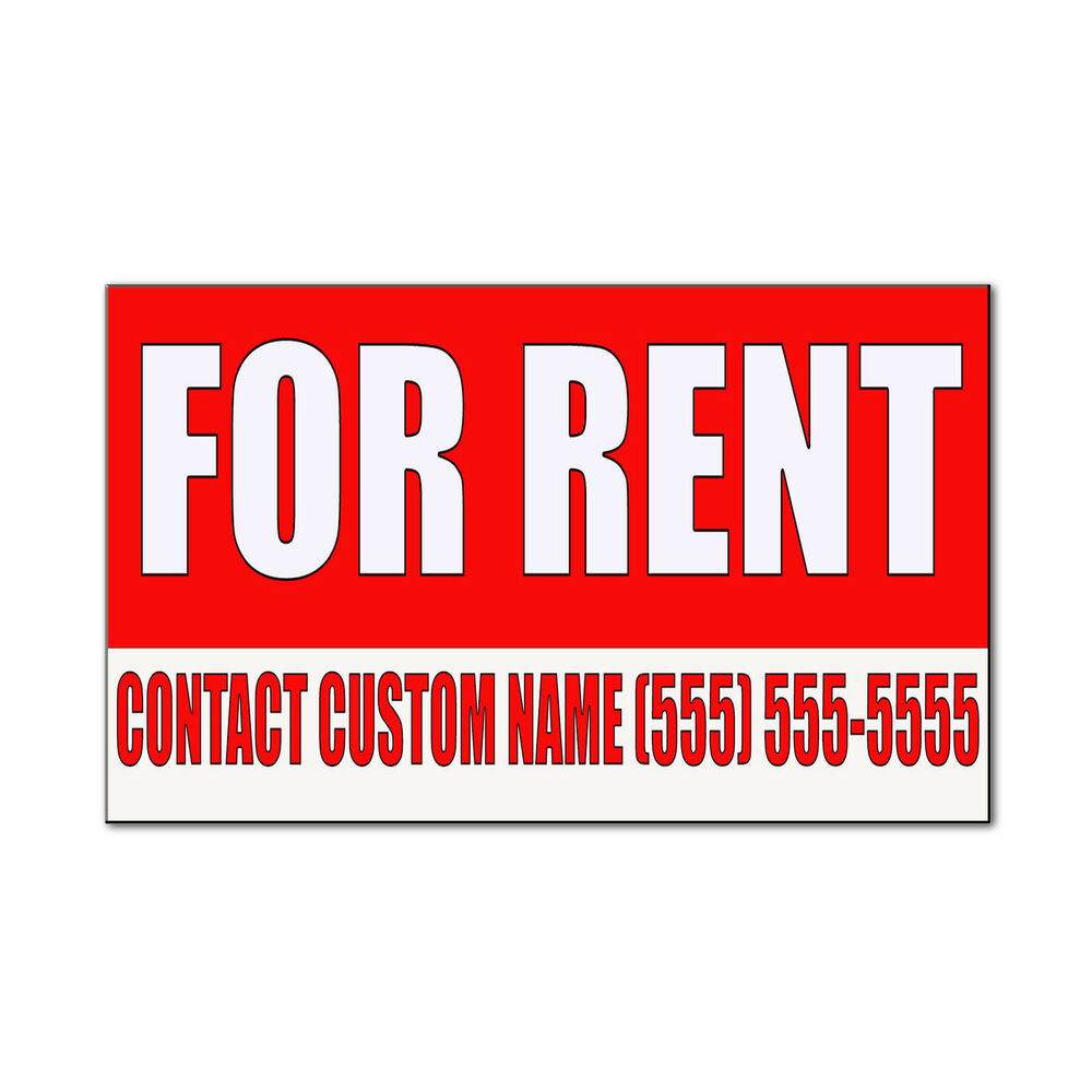 For Rents: For Rent Custom Name Phone Number Red Corrugated Car Door