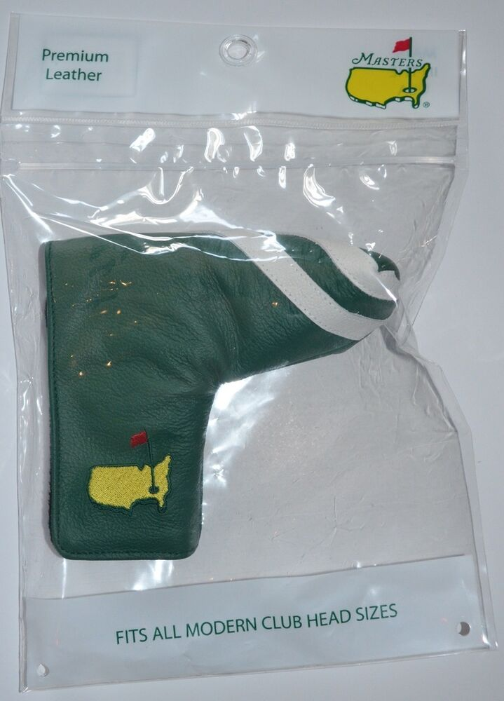 2016 Masters Premium Green Leather Putter Cover From