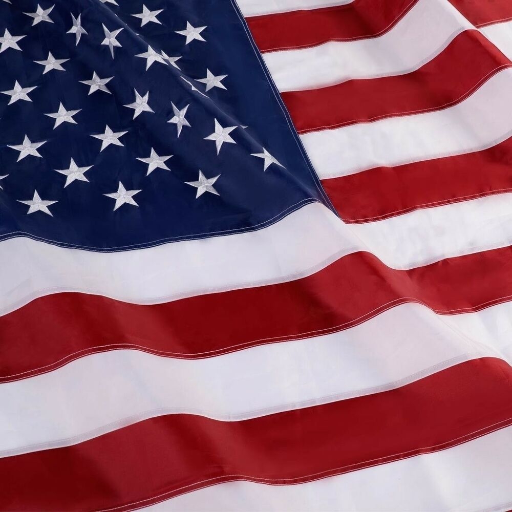 3'x5' Ft American Flag Sewn Stripes Embroidered Stars