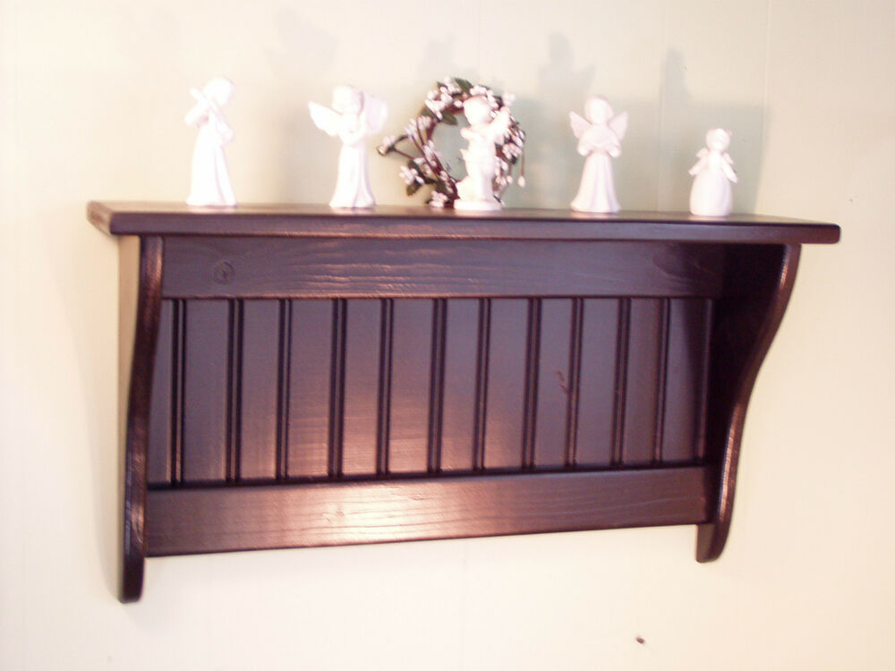 Wood Wall Shelf Small Wood Display Rack Hanging Wall Shelf