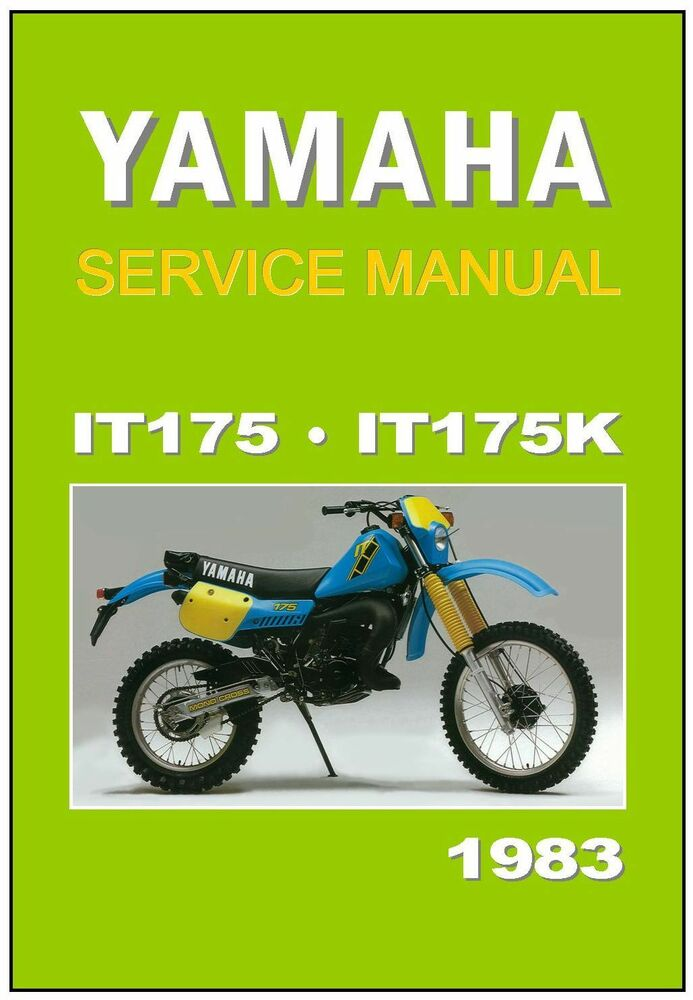 Yamaha workshop manual it175 it175k 1983 maintenance for Yamaha rx v1600 manual