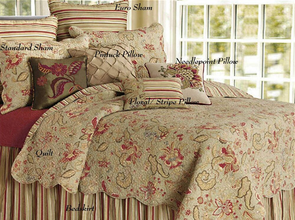 Country Bedding Sets Queen: Sale! King Quilt Set Jacobean French Sage Paisley Cotton