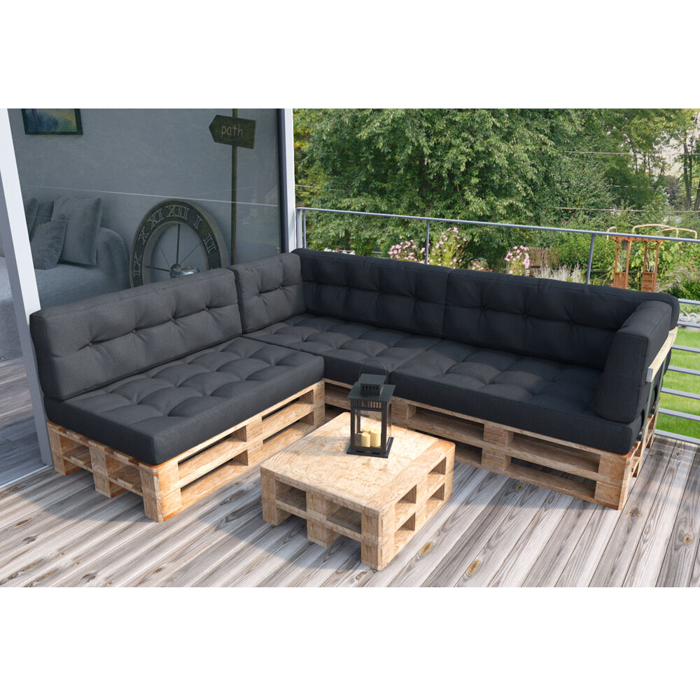 palettenkissen palettensofa palettenpolster kissen sofa polster farbwahl ebay. Black Bedroom Furniture Sets. Home Design Ideas