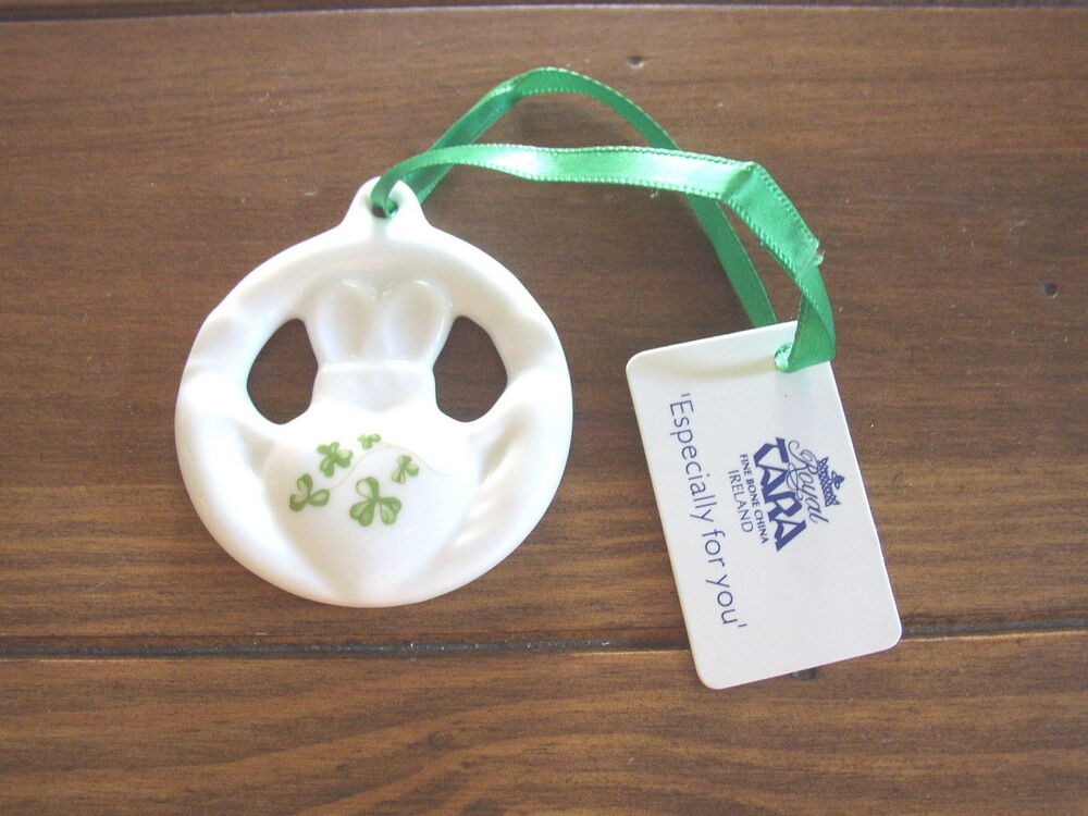 Christmas Ornaments From China : Claddagh ring fine bone china christmas ornament royal