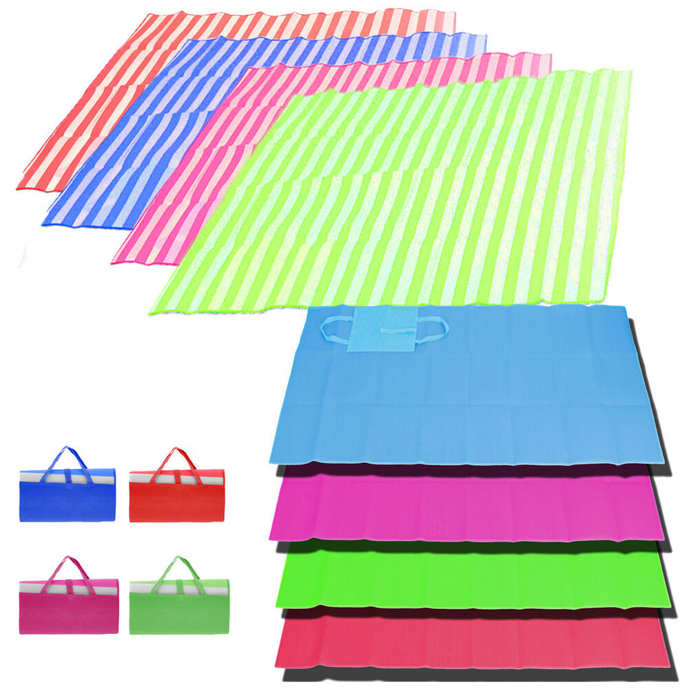 Large Folding Beach Mat Single Double Picnic Mat Rug Sun