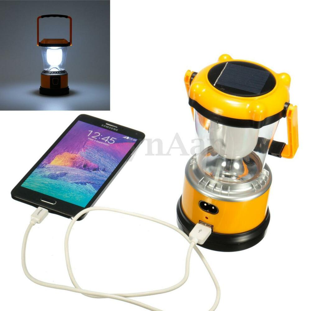 Led Solar Panel Lamp Usb Charger Torch Light Flashlight