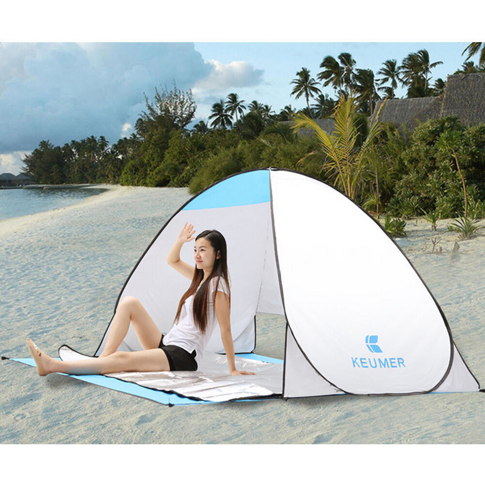 pop up portable beach canopy anti uv sun shade shelter outdoor fishing tent new ebay. Black Bedroom Furniture Sets. Home Design Ideas