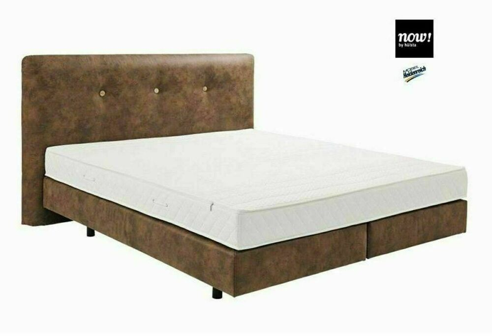 boxspring bett doppelbett 180x200cm now by h lsta braun neu ebay. Black Bedroom Furniture Sets. Home Design Ideas