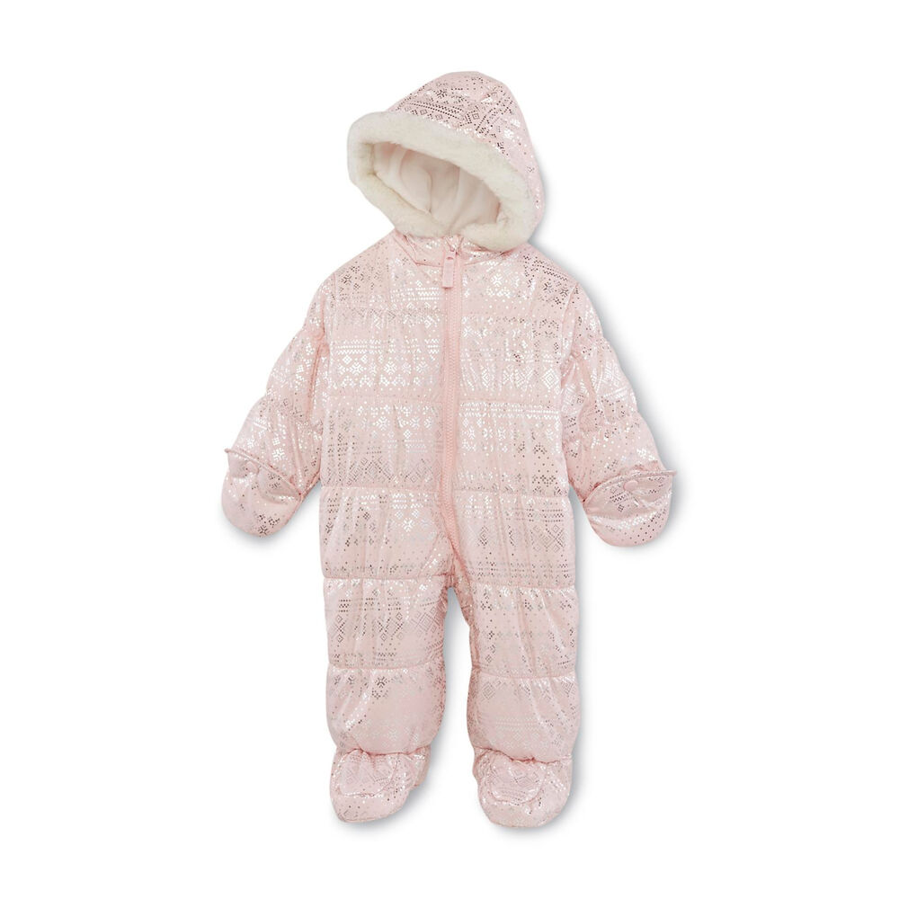 Carters 3 6 9 12 Months Hooded Bunting Pram Suit Snowsuit