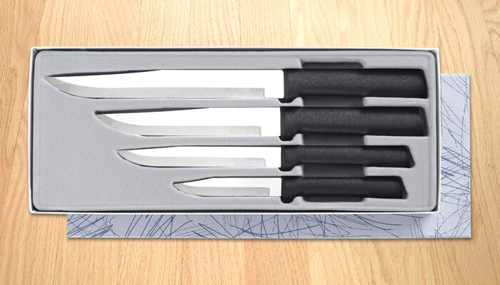 kitchen knives made in the usa rada cutlery g204 wedding register gift set black handle made in usa a1 ebay 2223