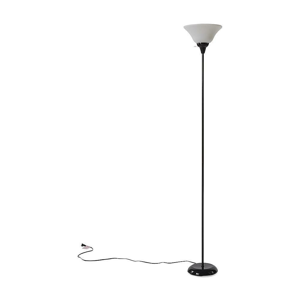 black floor standing lamp living room bedroom home lighting ebay. Black Bedroom Furniture Sets. Home Design Ideas