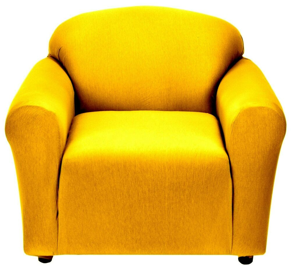 YELLOW CHAIR COVER-ALSO COMES IN SOFA COUCH LOVESEAT