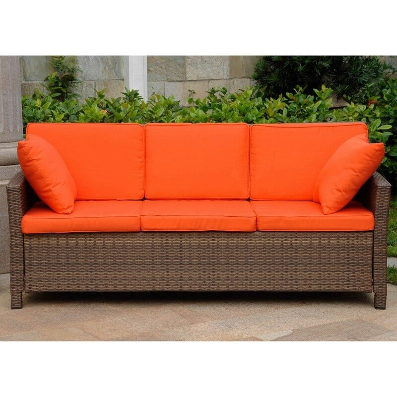 International Caravan Valencia Resin Wicker Deep Seat Sofa ...