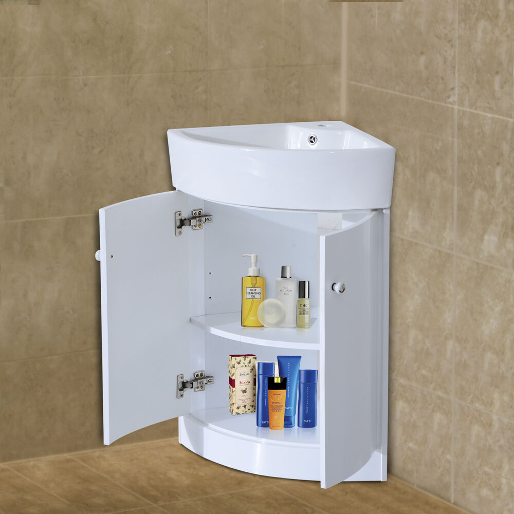 HOM Bathroom Sink Cabinet Vanity Unit 2 Door Basin