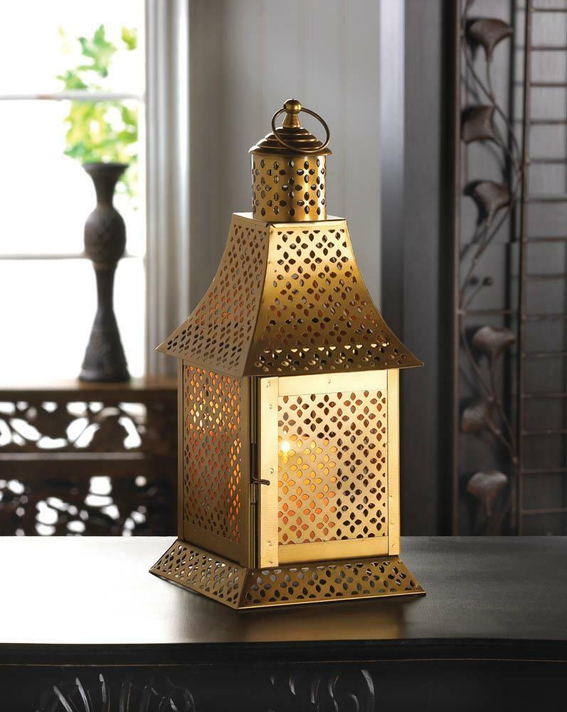 Gold Moroccan Marrakech 13 Quot Tall Candle Holder Lantern