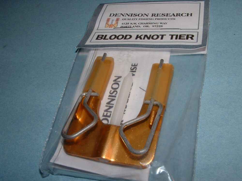 Blood knot tier by dennison research fly fishing leader for Blood knot fishing