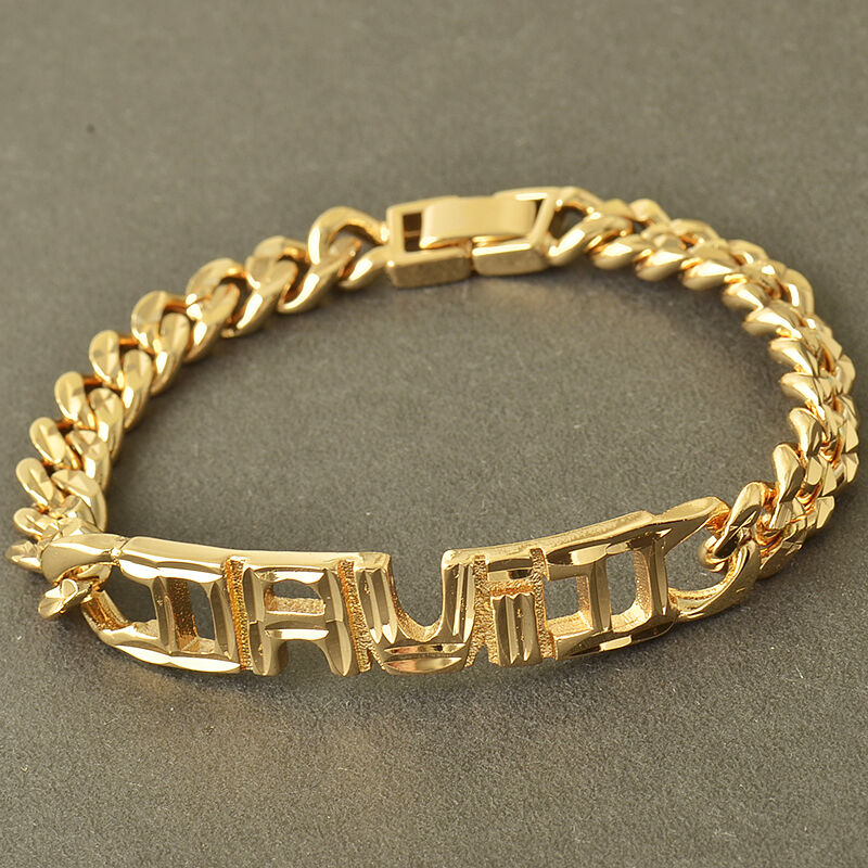 new 14k solid gold filled curb cuban link fashion mens