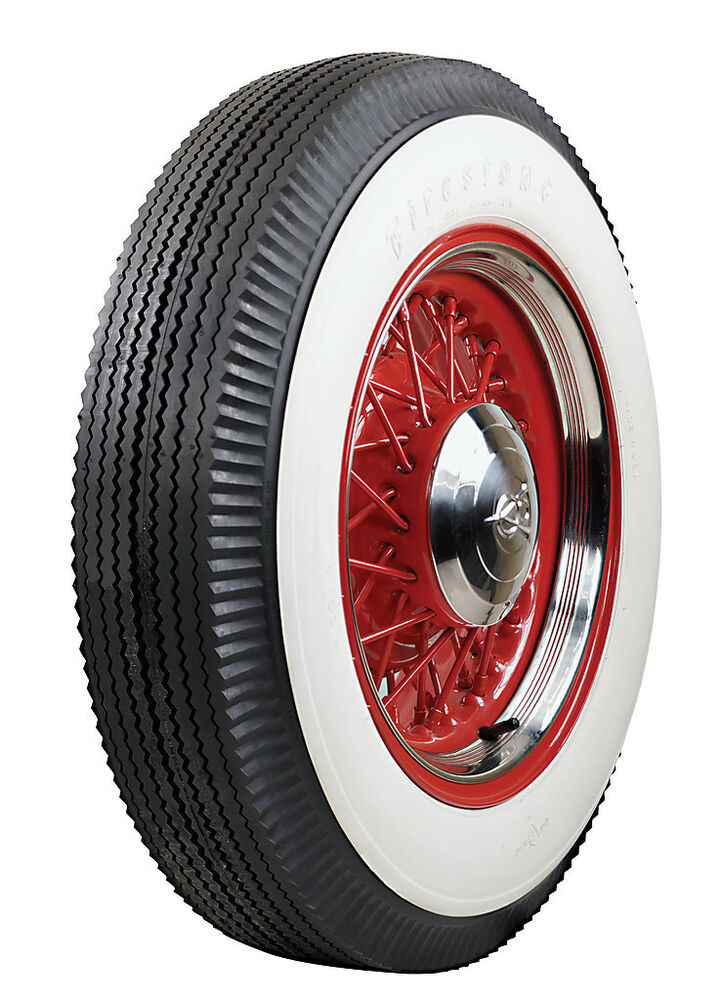 Firestone 600 16 Wide White Wall Bias Ply Tire Ford Chevy