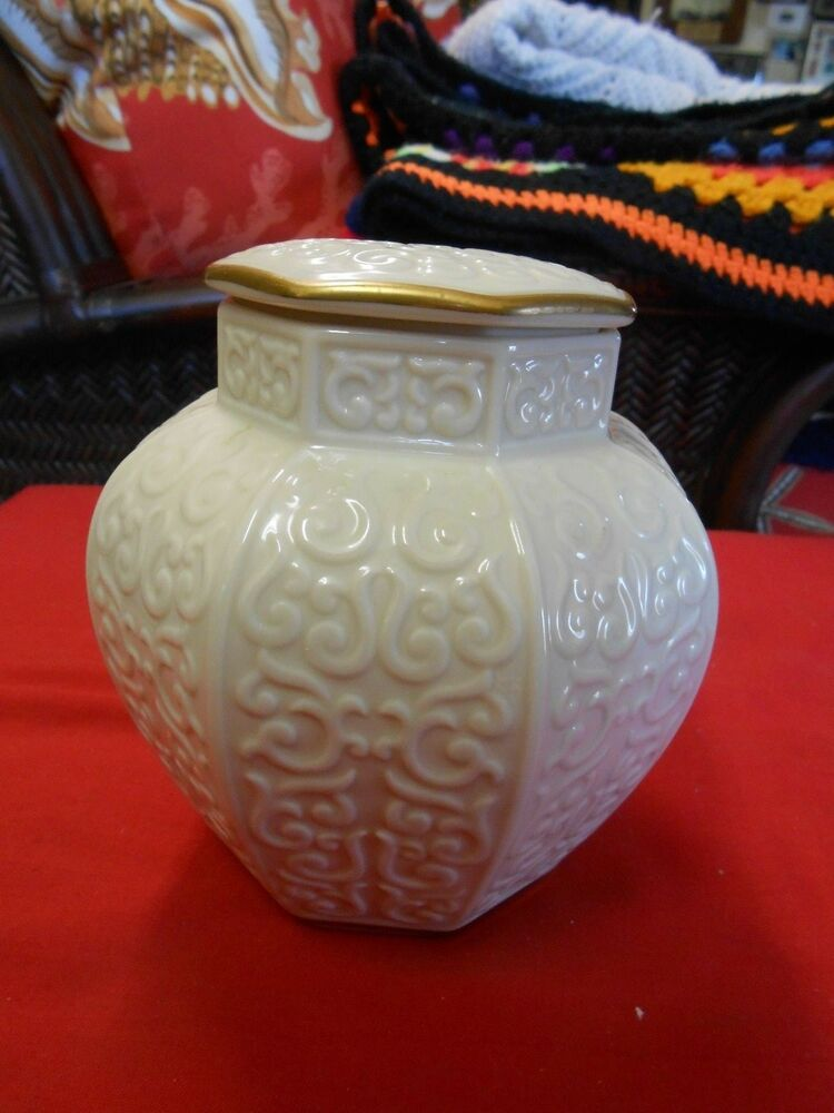 Magnificent Lenox Large Quot Ginger Jar Quot Gold Trim Ebay