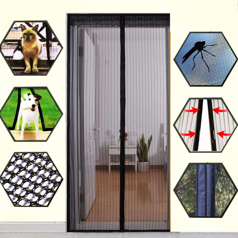 Clear Closer Mosquito Door Net Mesh Screen Bug Fly Pet