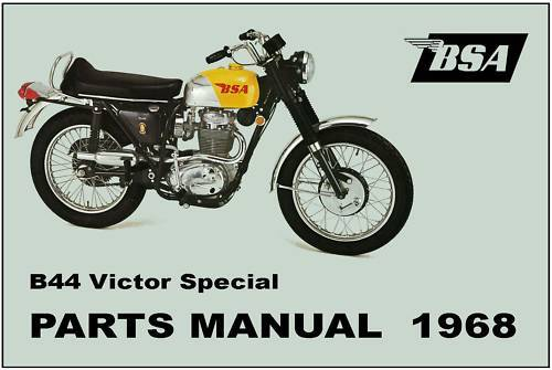 Bsa Parts Manual B44 Victor Special B44vs 1968 Replacement