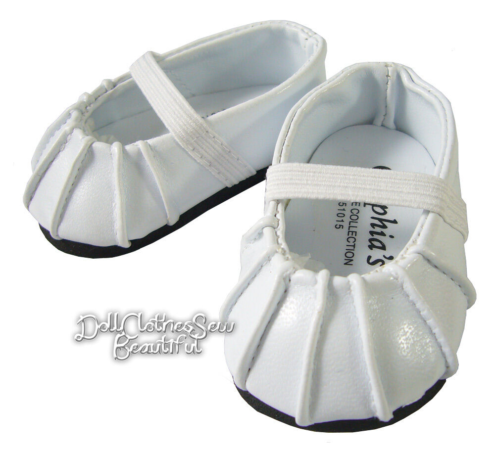 "EASTER White Ballet Flats Shoes for 15"" Bitty Baby + Twins ..."