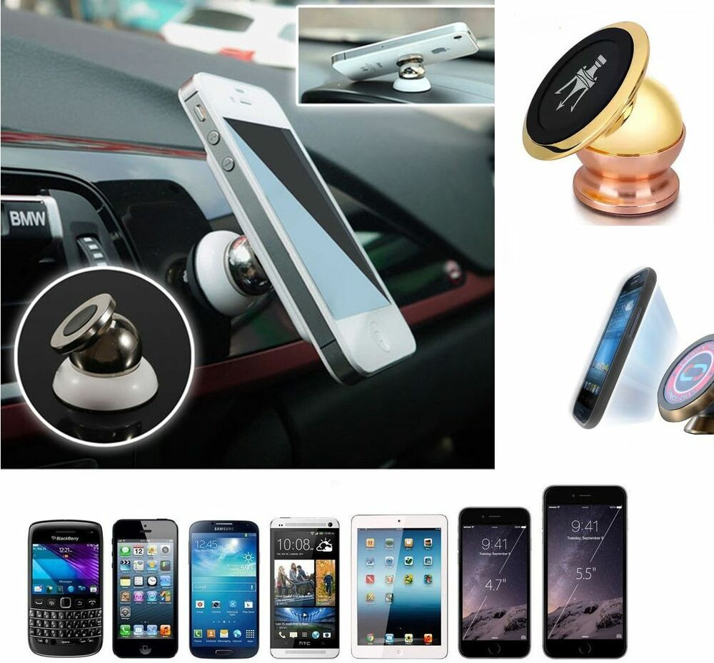 magnetic iphone car mount universal 360 magnetic phone mobile car dash holder magic 15661