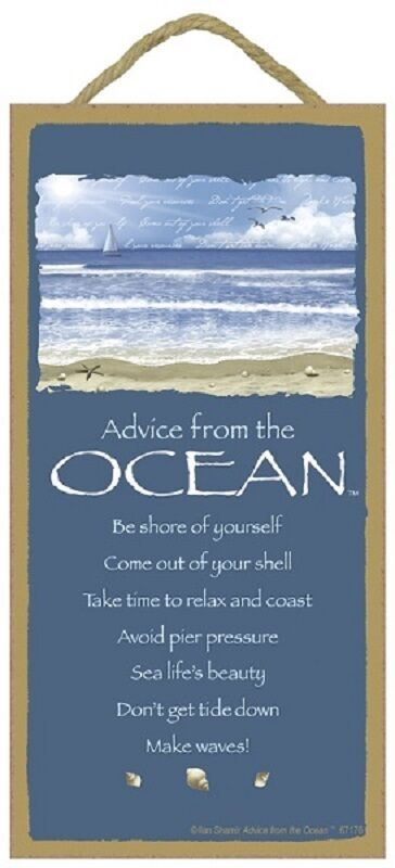 Advice From The Ocean Wood 10 Quot X 5 Quot Sign Wall Hanging