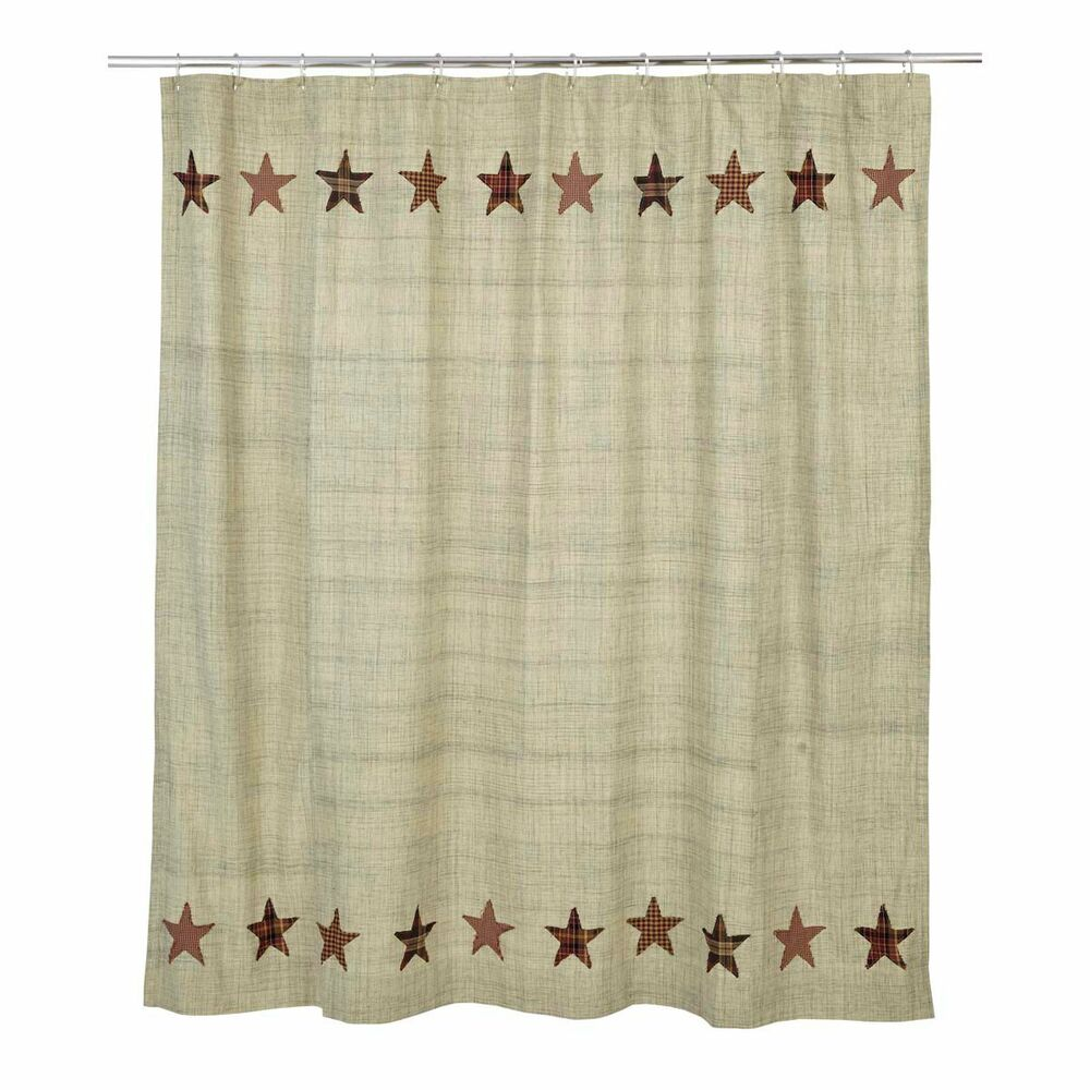 rustic country primitive abilene star shower curtain western ranch