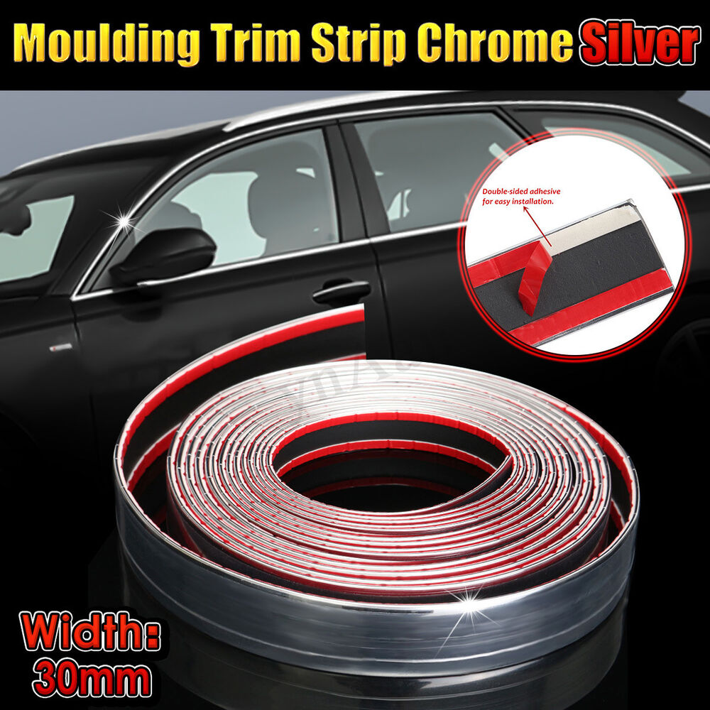 Diy exterior car chrome adhesive strip trim molding for Advanced molding and decoration