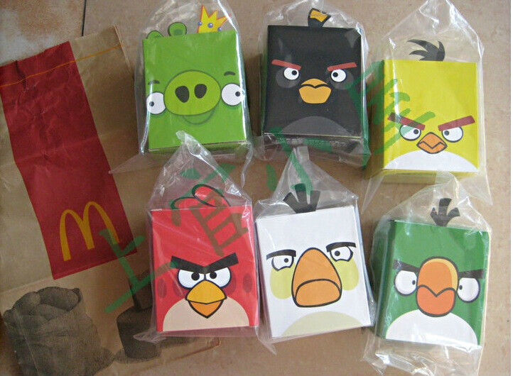 2012 china mcdonald 39 s angry birds plush 6 toys set free shipping worldwide ebay - Angry birds toys ebay ...